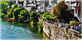 Tübingen - Neckarfront  - Neckarmauer - Hölderlinturm: digital retouched - EffiArt | by eagle1effi