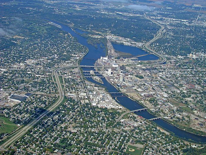 Downtown Cedar Rapids From The Air Photo By Matt Bearup