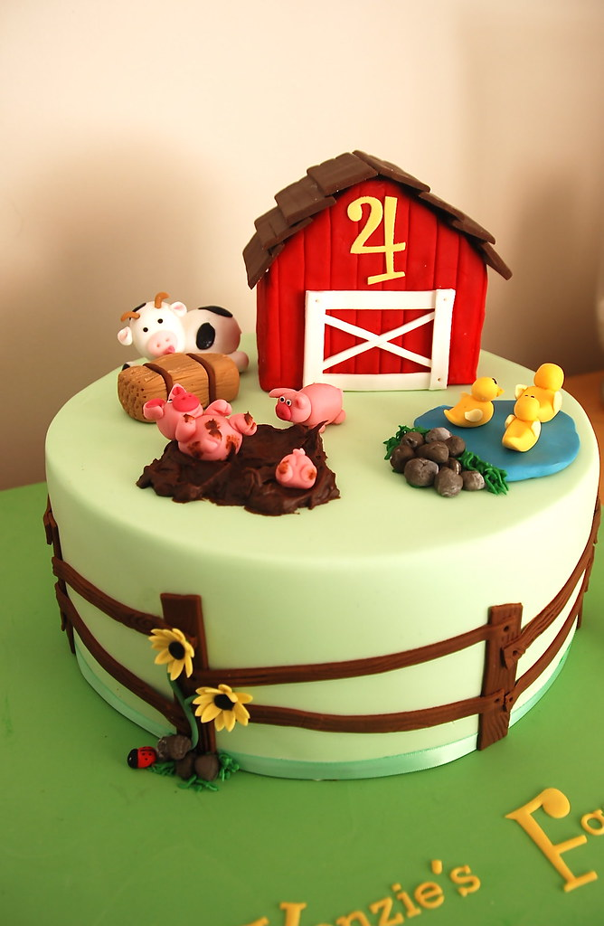 Farm Cake For A Gorgeous Little Boy Who Loves Farms And