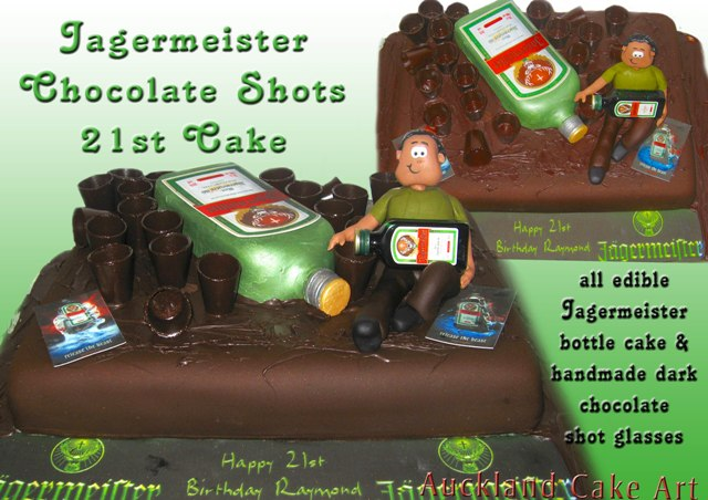 Jagermeister Chocolate Shot Glasses Birthday Cake