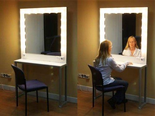 Espejos tocadores de maquillaje puesto de maquillaje for Precio de espejos de pared