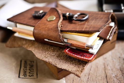 GTD Index + Notebook + leather cover + antique key | by Patrick Ng