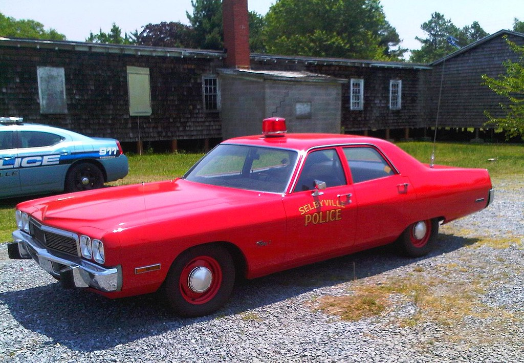 selybville delaware police historic red police car at. Black Bedroom Furniture Sets. Home Design Ideas