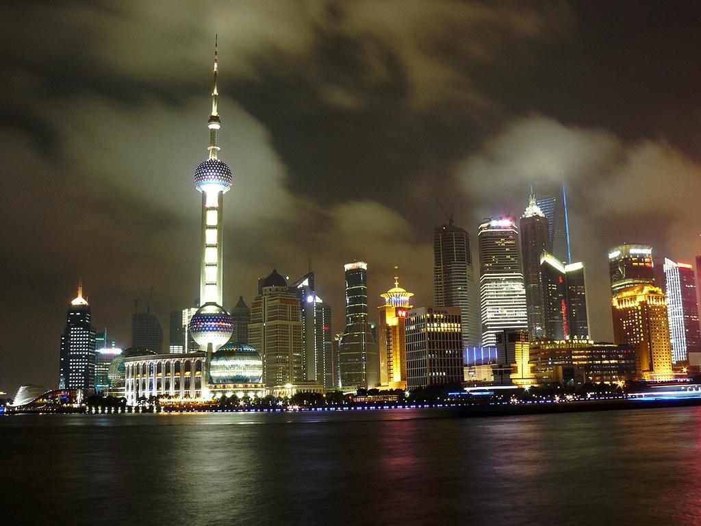Luces En Sanghai Luces Para Iluminar Una Gran Ciudad