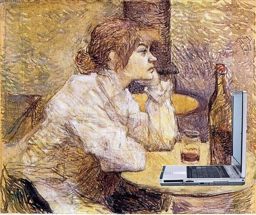 Suzanne Valadon Blogging, after Lautrec | by Mike Licht, NotionsCapital.com