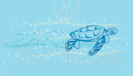 51008-Royalty-Free-RF-Clipart-Illustration-Of-A-Sea-Turtle… | Flickr