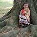 Chloe Held by a Tree