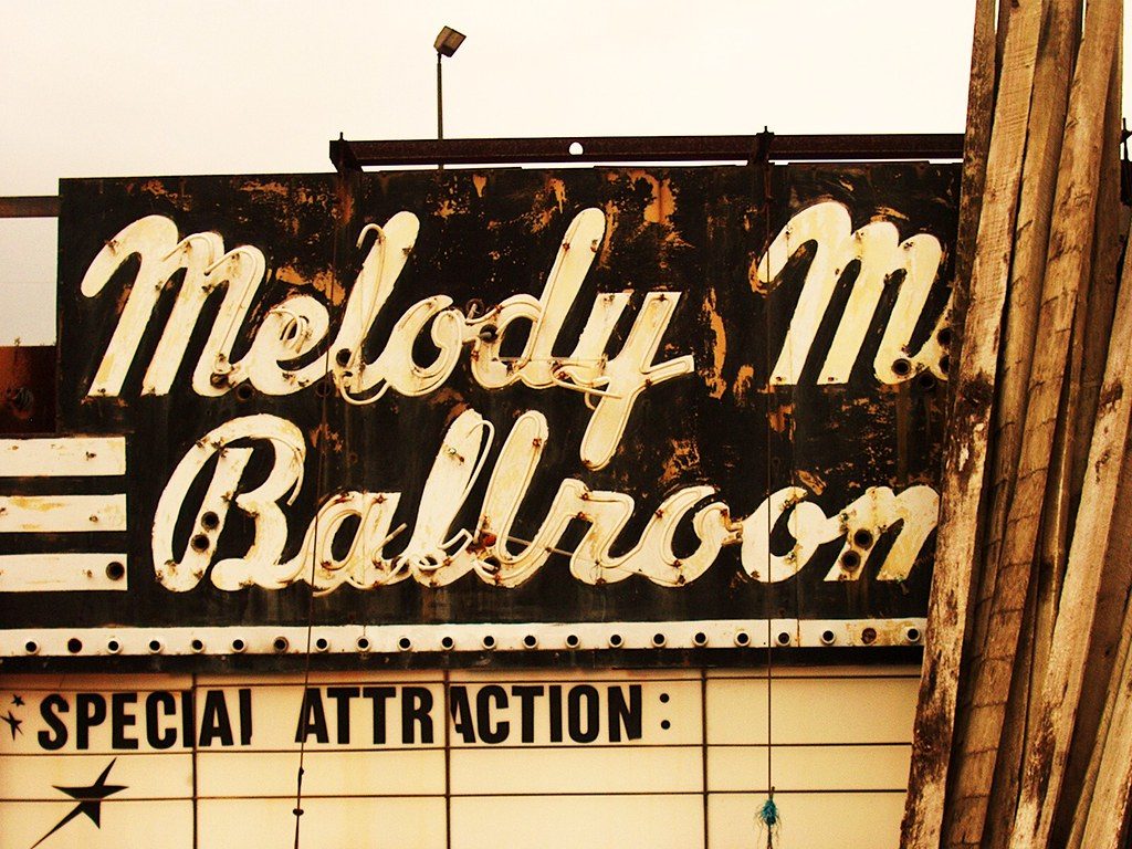 The old historic neon ...