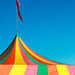 Colorful Big Top Tent at the Fair