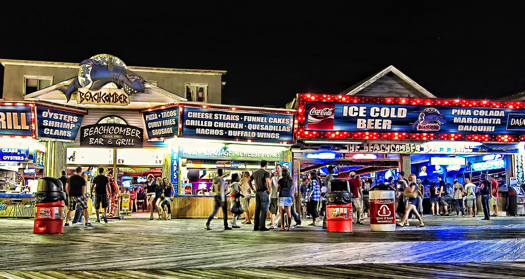 The Beachcomber Seaside Heights Nj Around Midnight