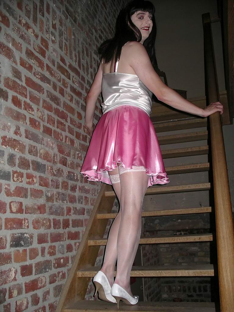 skirt on the stairs