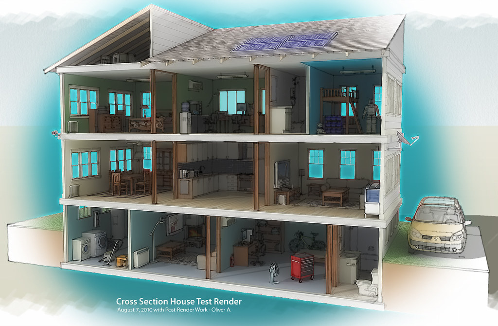 Cross Section House Render Vertical 4 Oliver Brian Apin