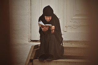 Russian Nun Reading | by goingslowly