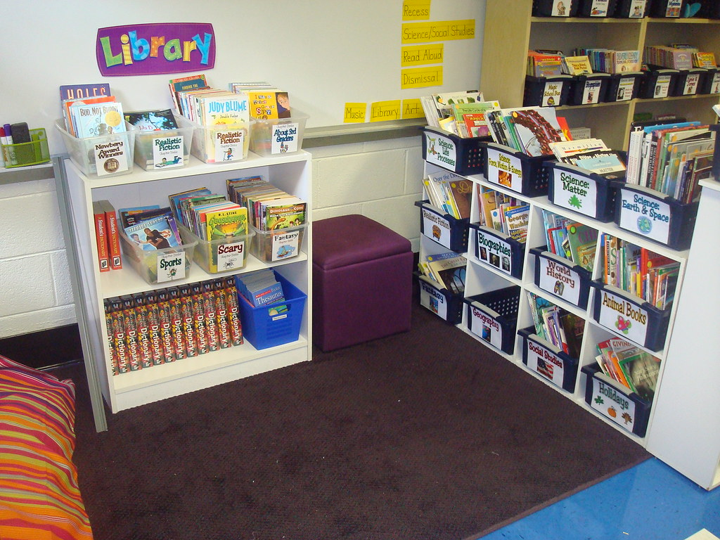 Classroom Library Ideas Kindergarten ~ Classroom library reading area this of my room
