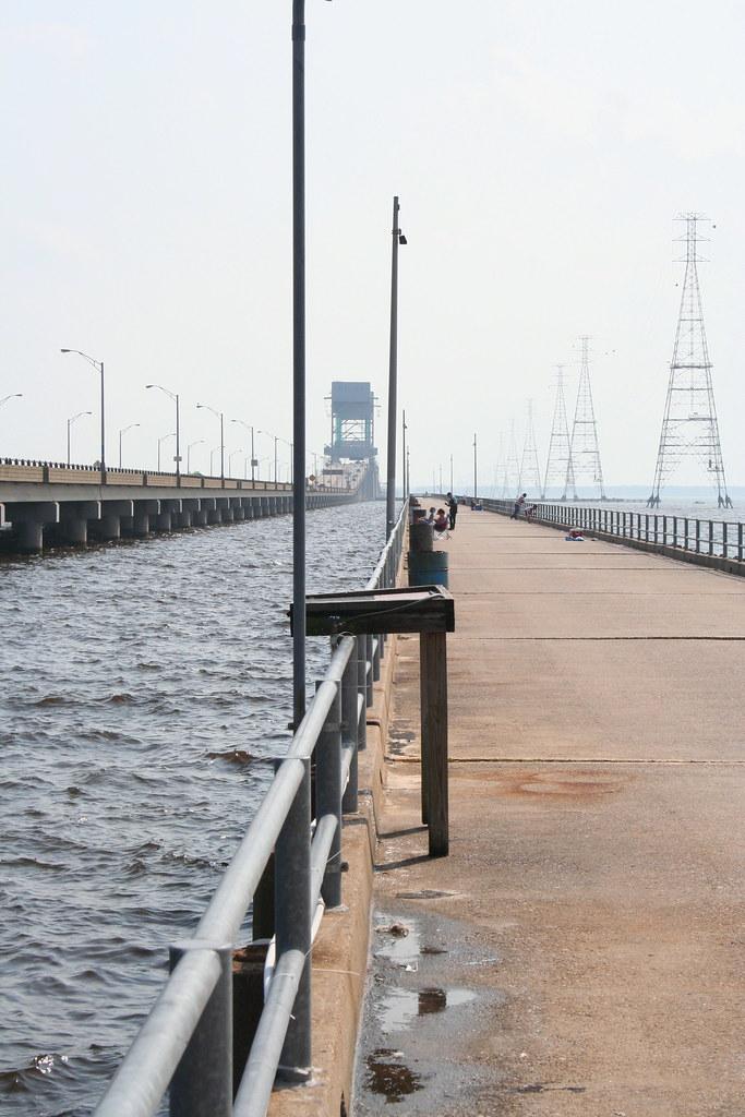 James river bridge fishing pier very hot evening near for Fishing piers near me