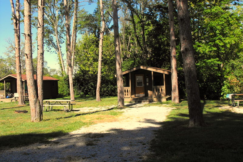 Camping cabin winton woods campground stephanie warren for Winton woods cabins