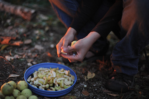 Tara Cutting Crab Apples | by goingslowly
