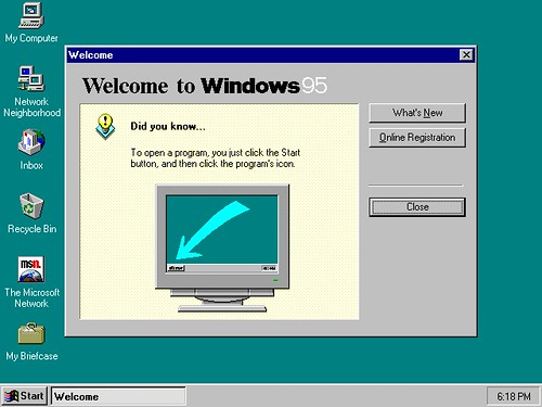 Welcome to Windows 95 | by Paxton Holley