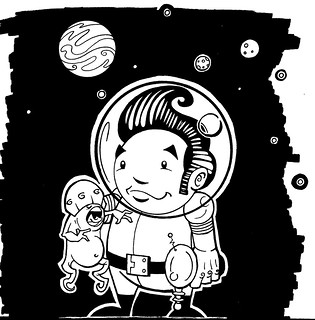Space-man-with-alien | by Meatgun