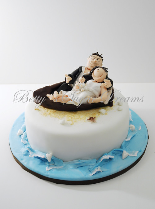 Boat With Bride Groom Small 1st Anniversery Cake Just F Flickr