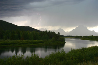 Lightning Storm With Reflection, Grand Teton | by flatworldsedge