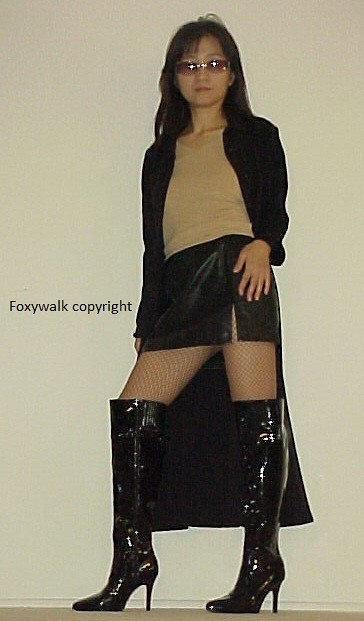 Black Patent High Boots  Foxywalk  Flickr-4613
