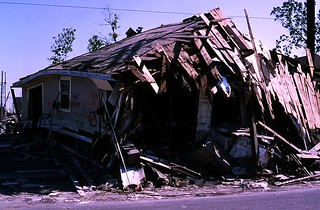 New-Orleans post Katrina Sept 2005: house busted by Katrina's wrecking ball | by Gilbert Mercier