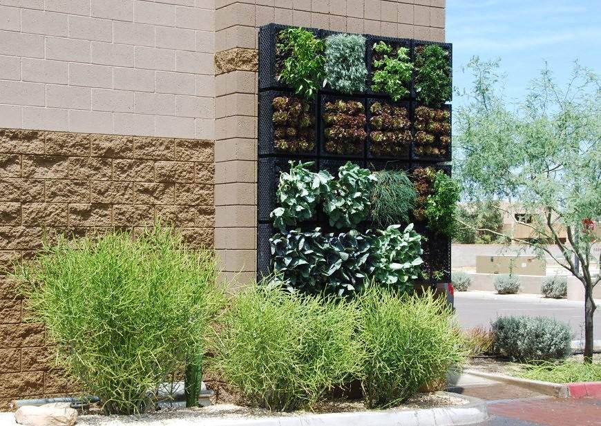 Completed Vertical Vegetable Garden