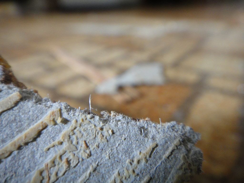 Asbestos Fibers In Sheet Flooring Detail View Of