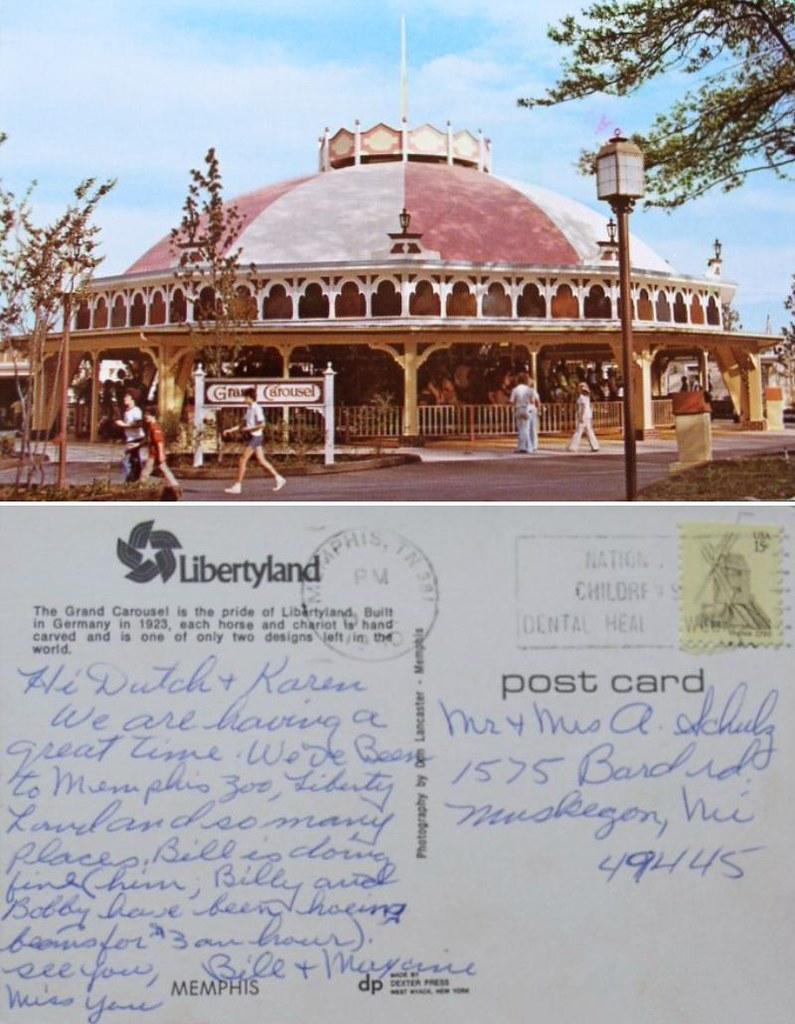 Grand Carousel, Libertyland, Memphis, Tenn. - mailed 1980 | Flickr
