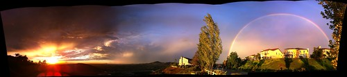 Full-on Double Rainbow Sunset iPhone Panorama | by Kevin Baird
