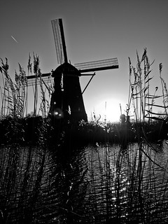 Sunset Kinderdijk in B&W | by Peter Jaspers (on/off)
