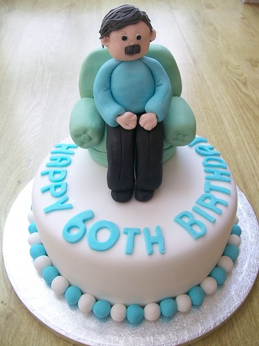 Cake Ideas For 60th Male Birthday : man in armchair cake topper .60th birthday cake..cakeebake ...