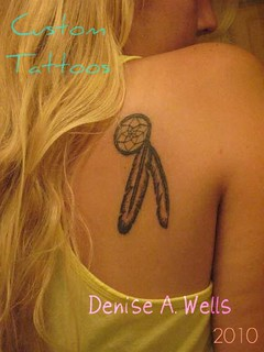 """Dreamcatcher"" Inked!!! Tattoo Design by Denise A. Wells 