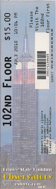 07 03 10 empire state building ticket 102nd floor upgrade