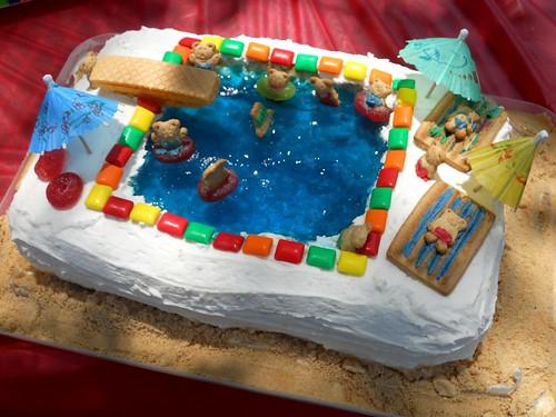 Swimming Pool Birthday Cake Jello