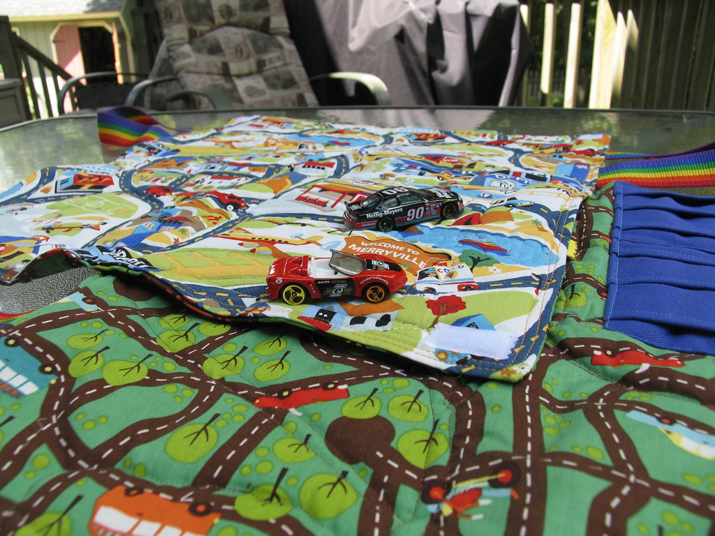 Toy Car Play Mat With Cars I Made Two Play Mats For Two Lu Flickr