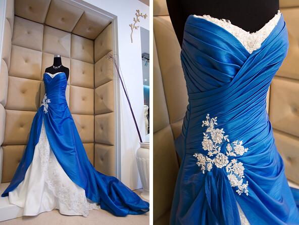 Blue Wedding Gowns: Blue Dress @ Orange Weddings