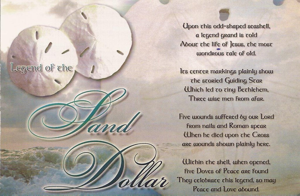 Hilaire image in legend of the sand dollar poem printable