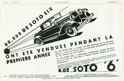 1930 desoto six coupe  france