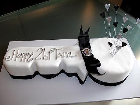 Key Cake Designs For 21st Birthday : 21st Birthday Key Cake Chocolate and Vanilla marble cake ...