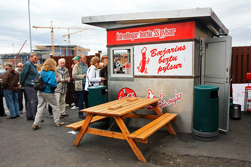 Famous Reykjavik hot dog stand | by Andrea Schaffer