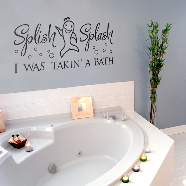splish splash i was taking a bath kids fun wall sticker flickr. Black Bedroom Furniture Sets. Home Design Ideas