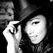 Bertina beautiful portrait of a model in black and white
