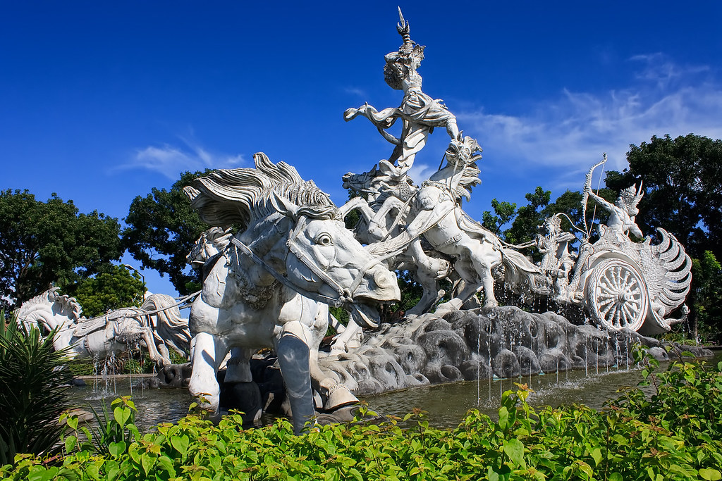 Patung Satria Gatotkaca (Ghatotkacha Statue) | The statue