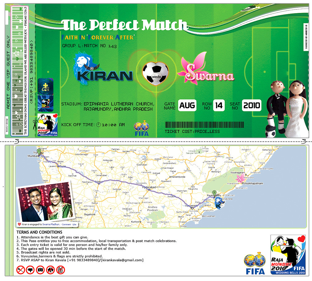 Soccer Themed Wedding Ideas: The Perfect Match - Soccer Themed Wedding Invite