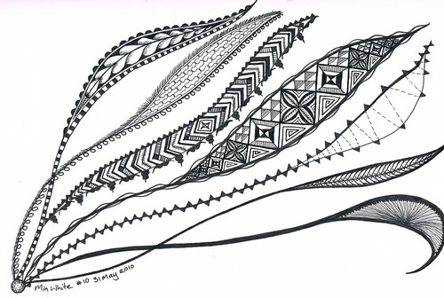2010_05_31 Min zentangle - seaweed | by OodleArdle