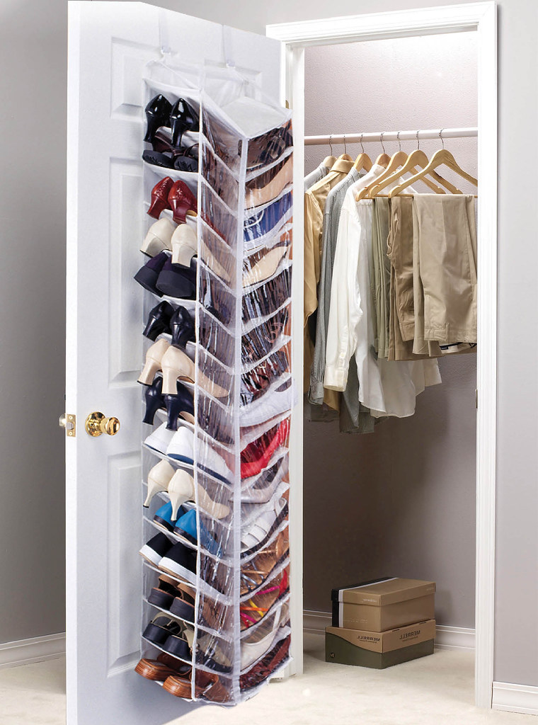 30 Pocket Over Door Shoe Organizer 30 Pocket Over Door