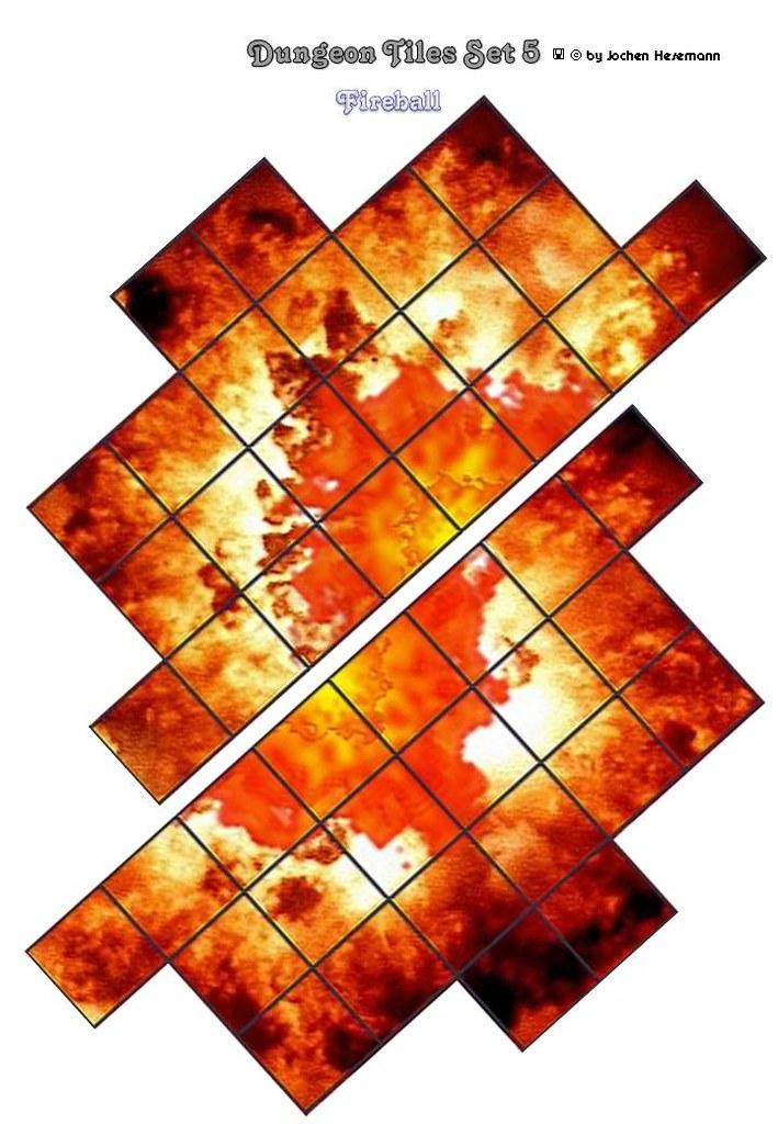 dungeon tiles set 05 fireball template battle grid wizar flickr