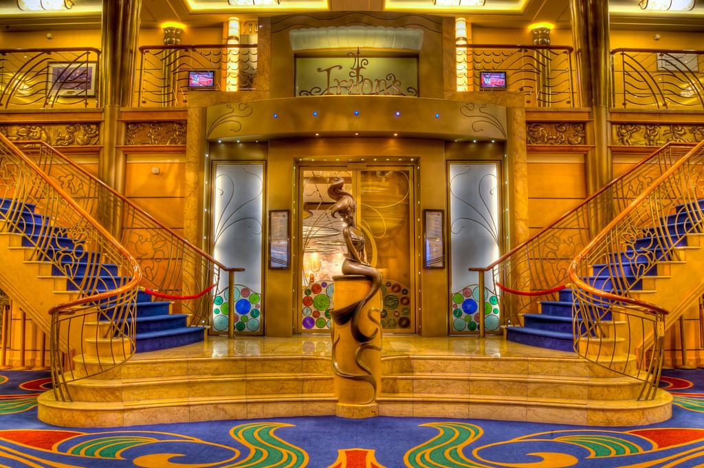 Tritons A View Of The Disney Wonder S 3rd Floor Lobby